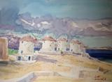高楠繪畫作品《希臘、愛琴海(二)》