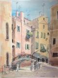高楠繪畫作品《意大利、威尼斯》