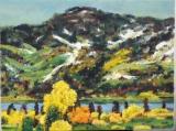 高楠繪畫作品《瑞士風景》