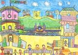 陳顯卓繪畫作品《中西式雙子塔》