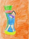 馮凱威繪畫作品《人像畫》