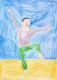 馮凱威繪畫作品《人像舞蹈》