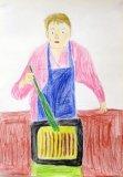 馮凱威繪畫作品《肥媽食譜》