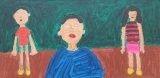 馮凱威繪畫作品《媽媽、哥哥、弟弟手拖手》