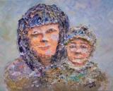 黎惠珍黏土作品《小時候》