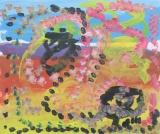 楊鎮威繪畫作品《藍色天空》