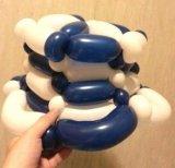 吳國基氣球作品《編織帽子》