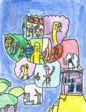 胡程皓繪畫作品《企鵝與電話》