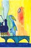 胡程皓繪畫作品《小企鵝乘火車》