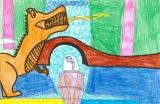 胡程皓繪畫作品《恐龍看世界》