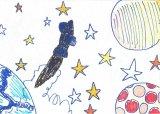 胡程皓繪畫作品《太空漫遊》