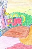 胡程皓繪畫作品《消防車》