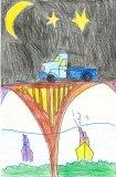胡程皓繪畫作品《小汽車》