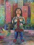 盧佩鏞繪畫作品《沒有傘的孩子,盡情奔跑吧》
