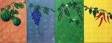 盧佩鏞繪畫作品《春甜、夏酸、秋苦、冬辣》