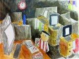 吳瑋呈繪畫作品《我的英雄-高健生老師》