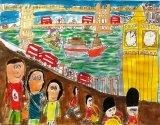 吳瑋呈繪畫作品《和爸爸媽媽去倫敦》