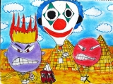 吳瑋呈繪畫作品《阿躁熱氣球》