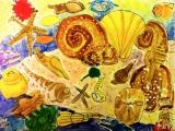 吳瑋呈繪畫作品《深海貝殼》