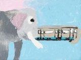 龐睿浤繪畫作品《幻想中的列車》