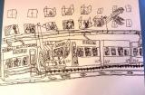 姜旭倫繪畫作品《大蕃薯底褲趺落街》