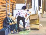 黃永康繪畫作品《自食其力》
