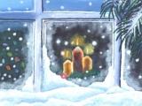 黃永康繪畫作品《聖誕燭光》