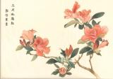 郭啟業國畫作品《三月杜鵑紅》