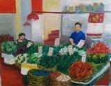 趙惠芝繪畫作品《爸媽的日常》