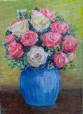 趙惠芝繪畫作品《玫瑰》