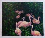 趙惠芝繪畫作品《叢林中的紅鶴》
