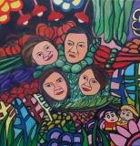 趙惠芝繪畫作品《「賣菜之家」》